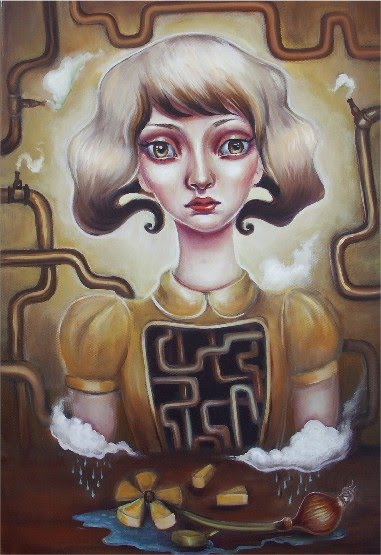 surreal lowbrow painting of a girl