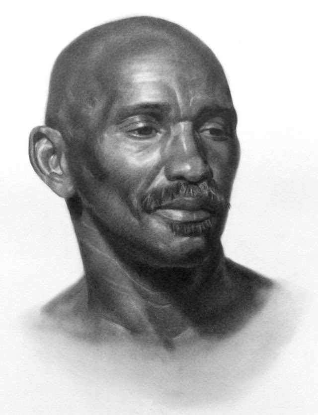 portrait drawing black man