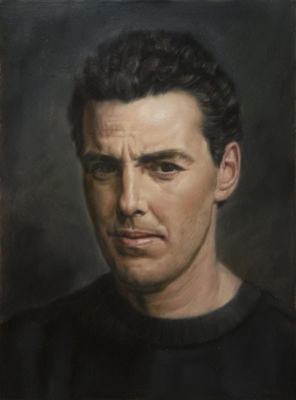 very realistic portrait painting of a man