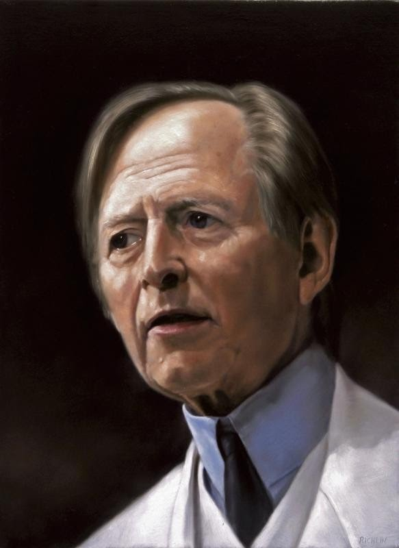 great portrait painting doctor realism