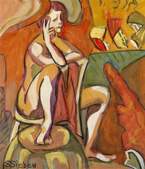 figurative painting nude woman