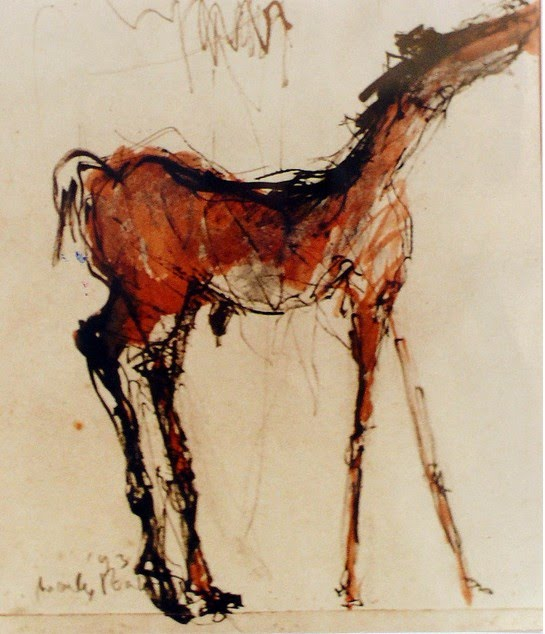 abstract expressionist equestrian painting