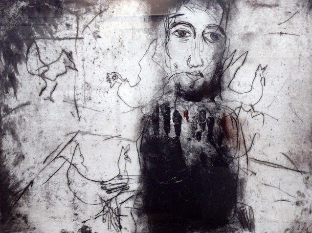 figurative abstract painting of a man
