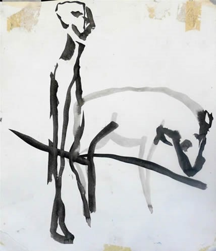 abstract figurative line drawings