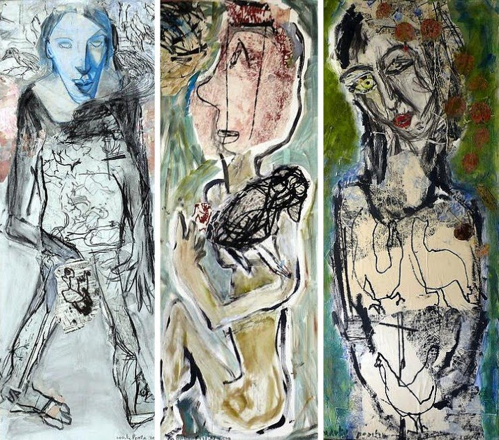 figurative abstract paintings by dutch artist