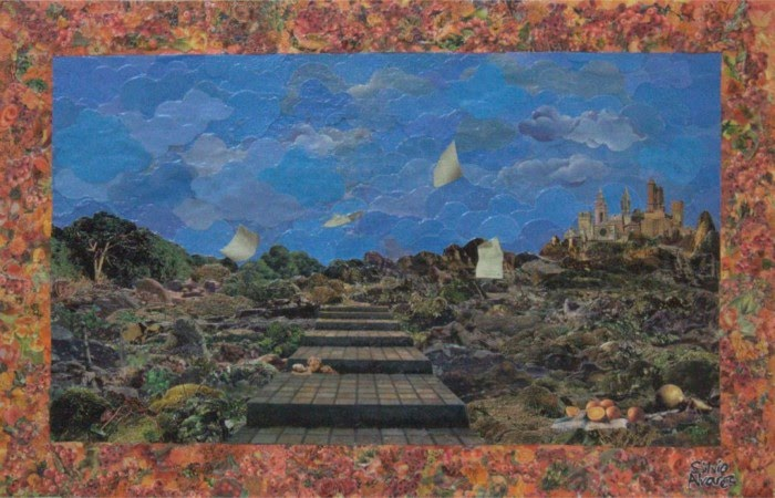 pathway collage made from magazine clippings