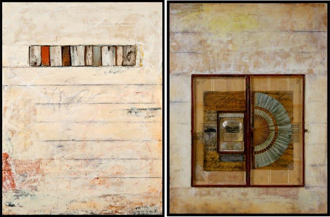 assemblage paintings by artist graceann warn