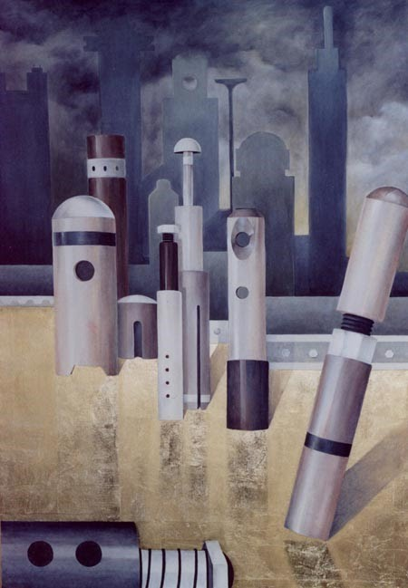 letizia gavioli painting of mechanical devices