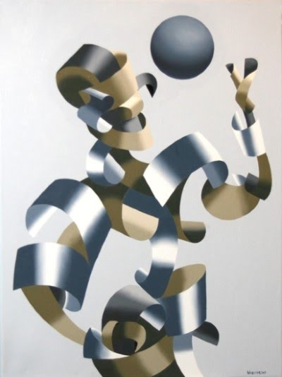 figurative cubism painting by mark webster