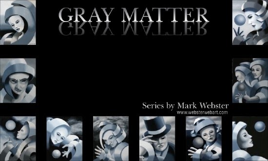 cubism painting by mark webster called gray matter
