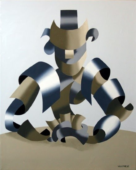 cubist poker player painting by mark webster