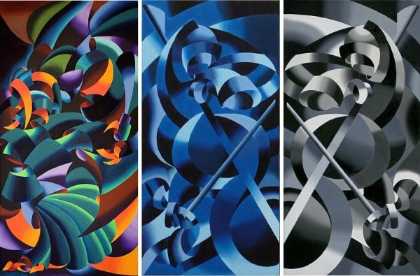 cubism painting by mark webster