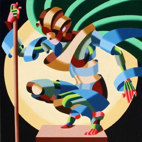 cubist figurative painting by mark webster