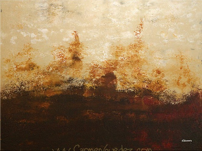 abstract expressionist painting by carmen guedez