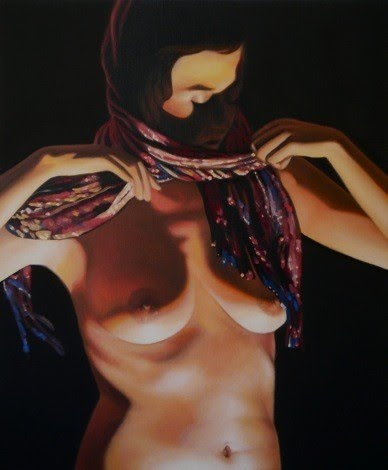 nude figurative painting by andrew ek