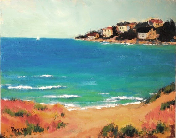 by the sea painting by artist russ potak