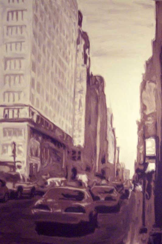 nyc painting by cedric lenaers