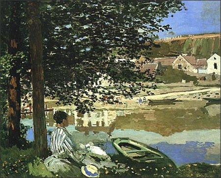 Claude Monet, On the Bank of the Seine, Bennecourt, 1868.