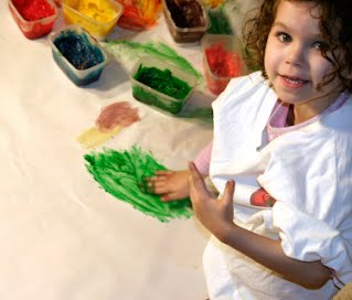 First Presbyterian Nursery School New Canaan Home Page Girl with Paints