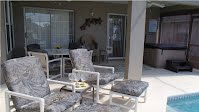 Patio and Pool Area Vacation Rental Villa Disney World Orlando Florida house by the mouse