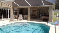 Pool Area Vacation Rental Villa Disney World Orlando Florida house by the mouse