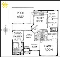Floor Plan Vacation Rental Villa Disney World Orlando Florida house by the mouse