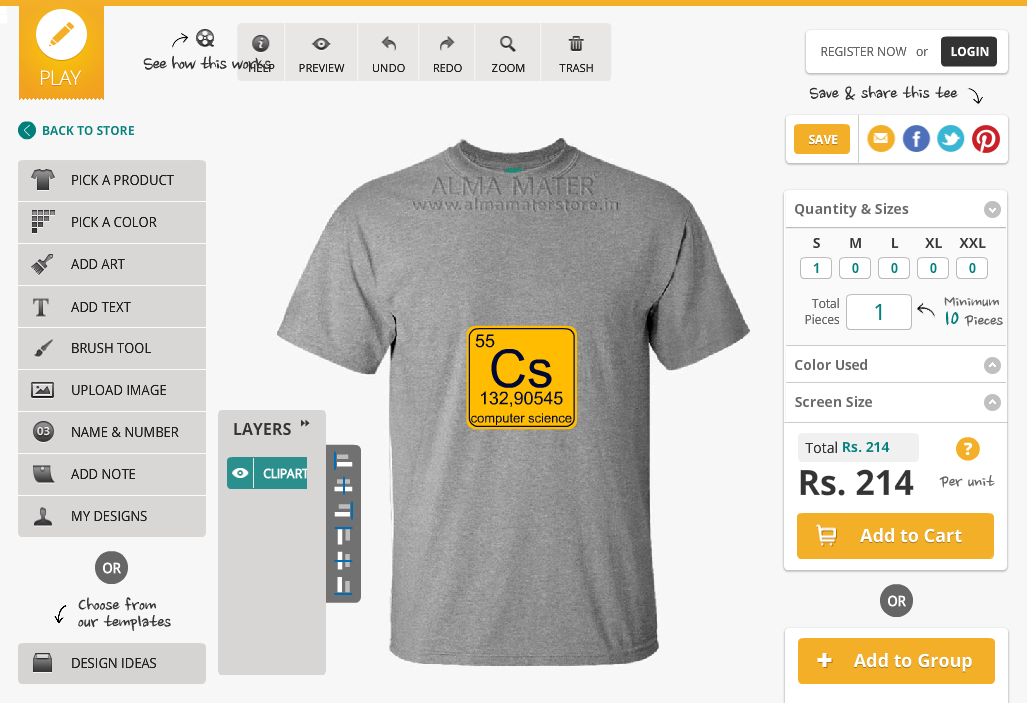 Forworkbyme for T shirt printing design software