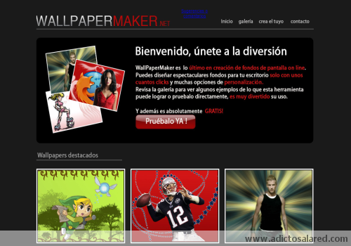 crea tus propios wallpapers online con wallpapermaker Crea tus propios wallpapers online con Wallpapermaker