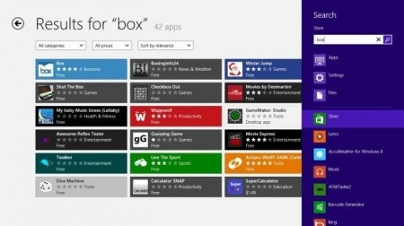 Box Search e1350037244449 Servicios populares para almacenamiento en la nube pronto en Windows 8 Phone