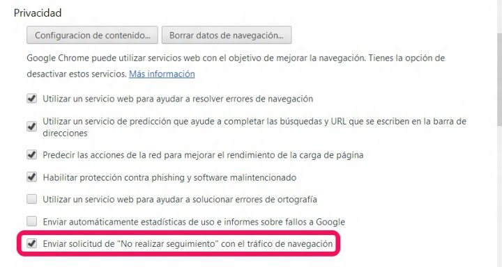 Rastreo google Chrome