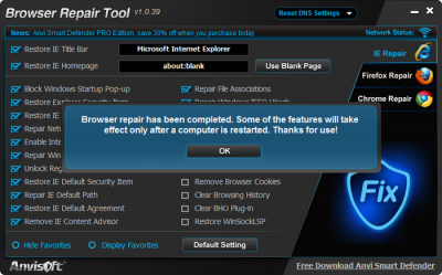anvi browser repair tool 400x249 Personalizar Internet Explorer con Anvi Browser Repair Tool