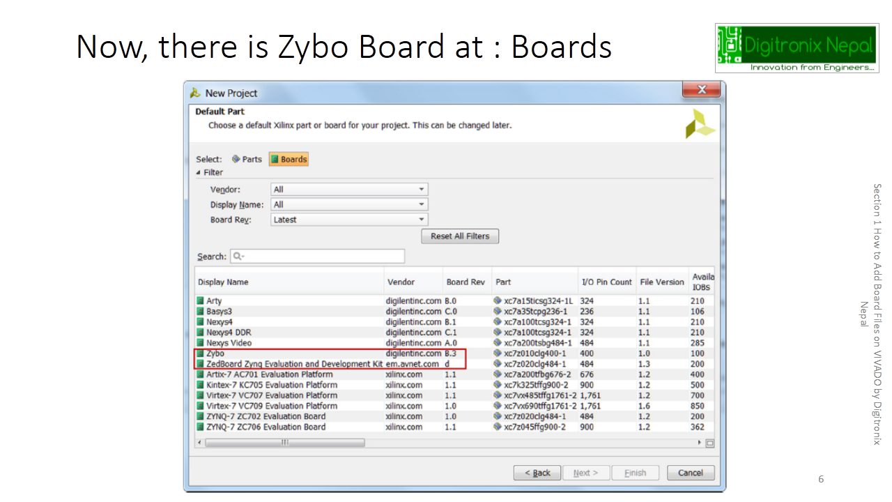 How to Add Board Files on VIVADO (Adding Zybo or other