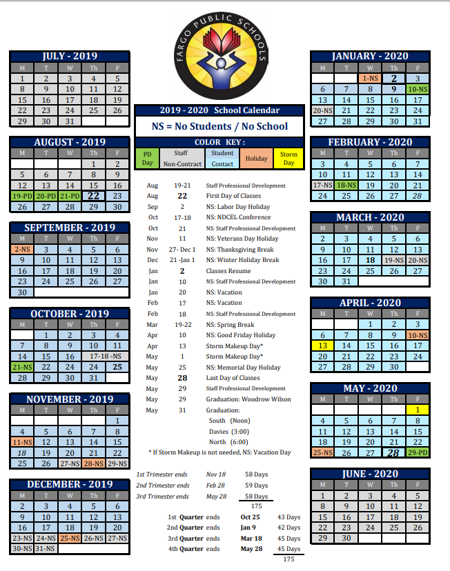 2020 Public School Calendar The School Board has approved the 2019 2020 School Calendar