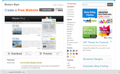 Free Blogger and Website Templates