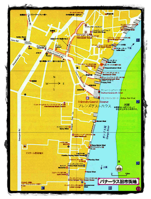 Map friends guest house varanasi india House map photo