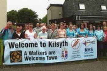 Kilsyth's Civic Queen launches Walkers are Welcome