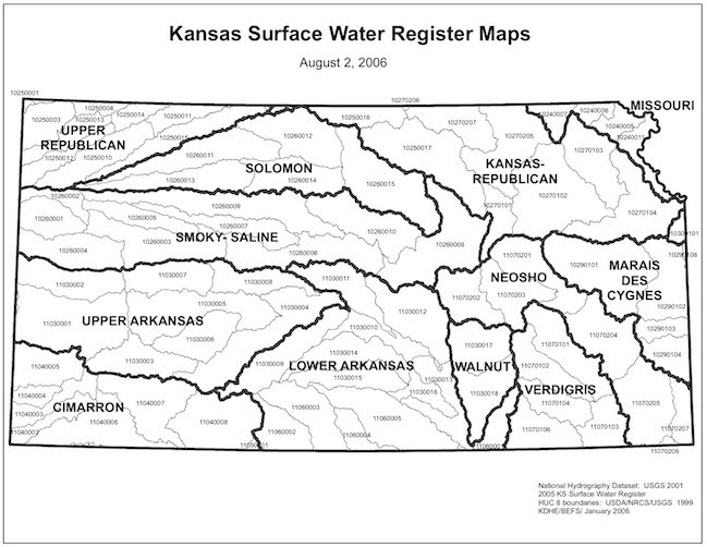 The Kansas River Watershed Friends Of The Kaw - Kansas rivers map