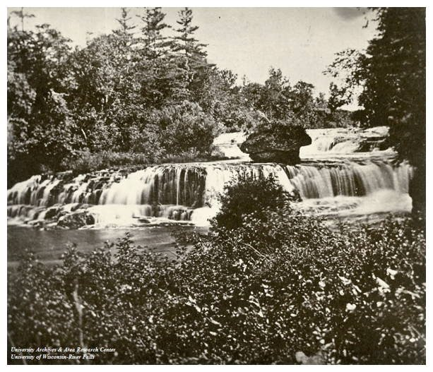 Junction Falls of Kinnickinnic River in 1865