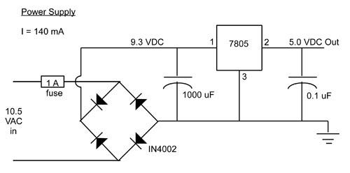 Quiz buzzer frugalphysics figure 2 a basic power supply for the quiz contest buzzer system voltages and current values shown are measured values ccuart Images