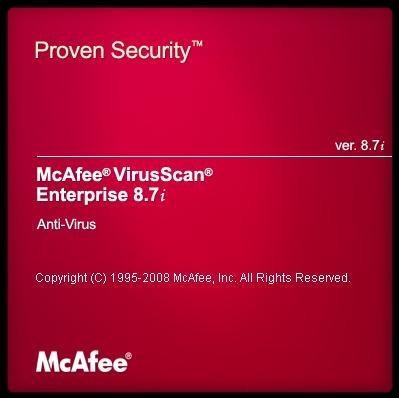 mcafee virusscan enterprise 8.5i