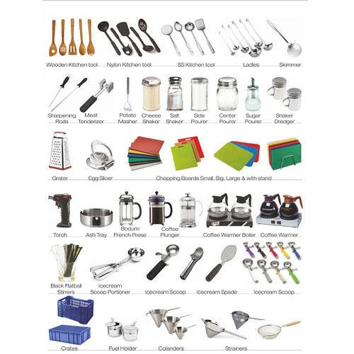 Kitchen tools and equipment food and service management for Kitchen equipment names