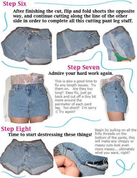 Diy distressed denim cut off shorts | a pair & a spare.