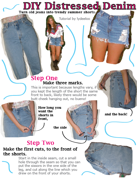 Diy distressed denim shorts the scarlet barrette.