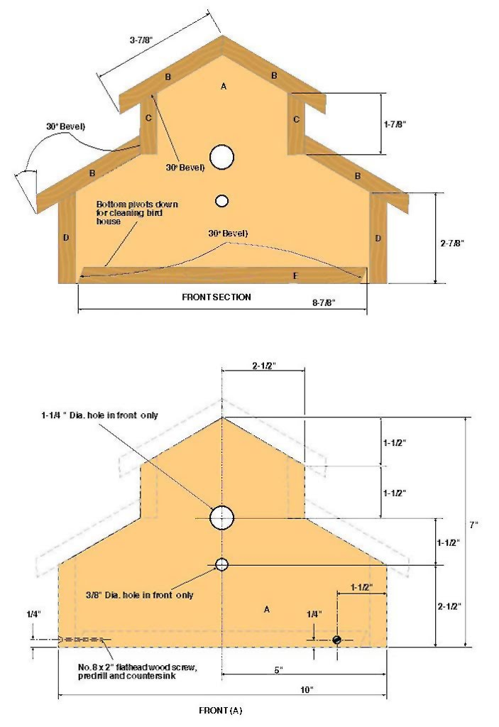 Woodwork Woodworking Plans Birdhouse PDF Plans