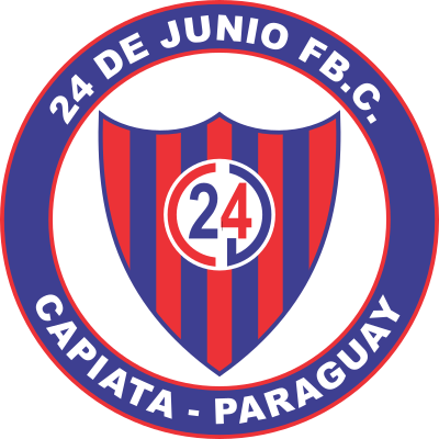 escudo 24 de Junio Foot Ball Club (Barrio Cerrito, Capiatá)