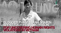 P1 - Vietnam: Human rights blogger among five finalists for human rights award