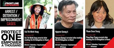 P1 - Three human rights defenders arrested after meeting the EU Delegation in Hanoi