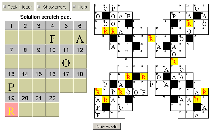 Erotic crossword puzzles online