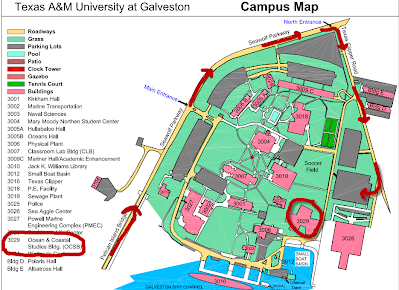 texas a m galveston campus map Campus Map Coastal Resilience Workshop