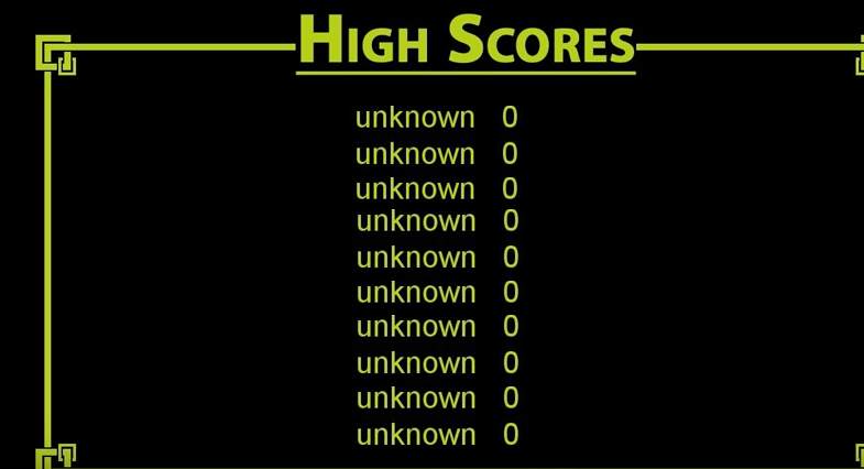 game high score